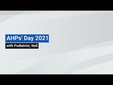 YouTube post - AHPs' Day 2021 - Neil