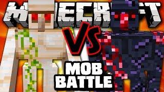 MUTANT OBSIDIAN GOLEM VS MUTANT IRON GOLEM - Minecraft Batalha de Mobs - Better Dungeons e Pun Mods