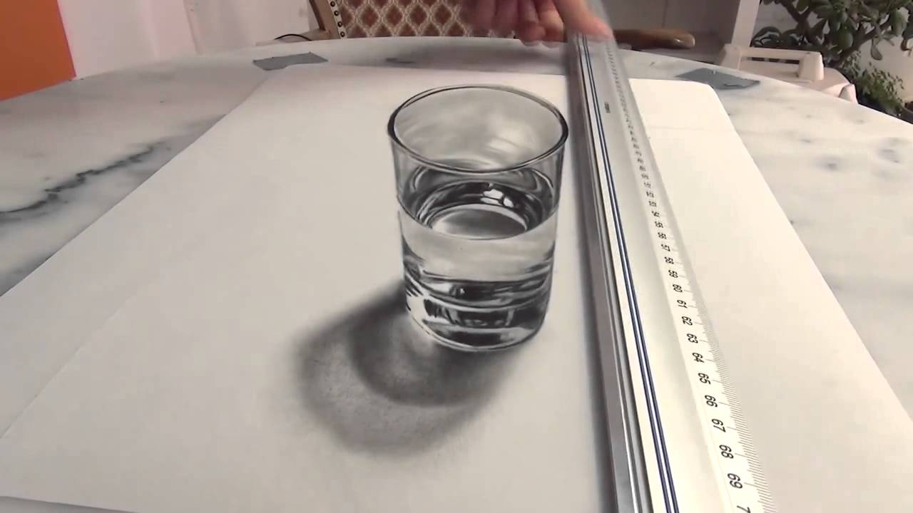 Vaso con agua dibujo o realidad  YouTube