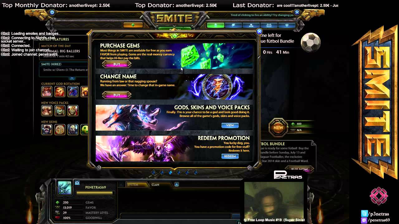 smite how to connect to twitch