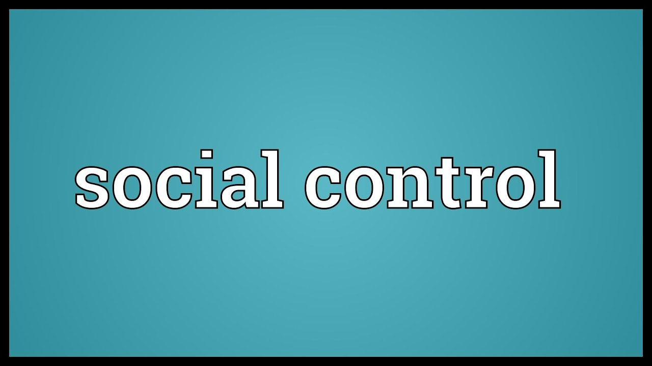 essay on different types of social control