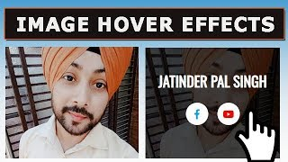 Image Hover Effects with Social Icons to create a Team for Website | HTML CSS Tutorial
