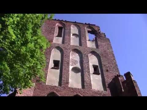 Развалины древней кирхи и орденского замка Бранденбург.Кенигсберг-Калининград.