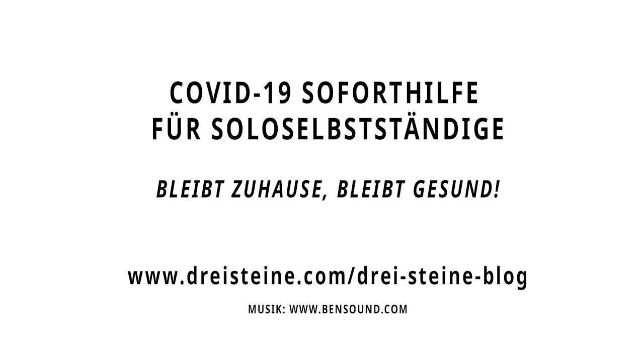 COVID-19 SOFORTHILFE für Soloselbständige 24.03.2020