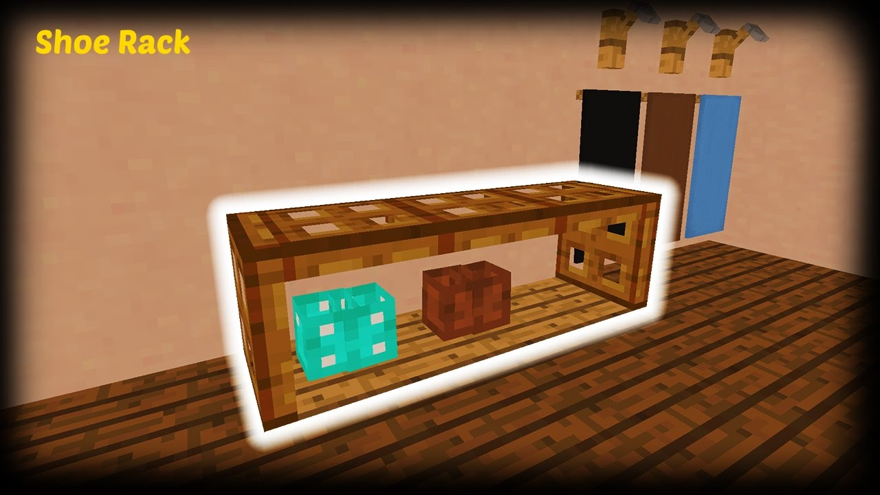 Minecraft How To Make A Shoe Rack Youtube