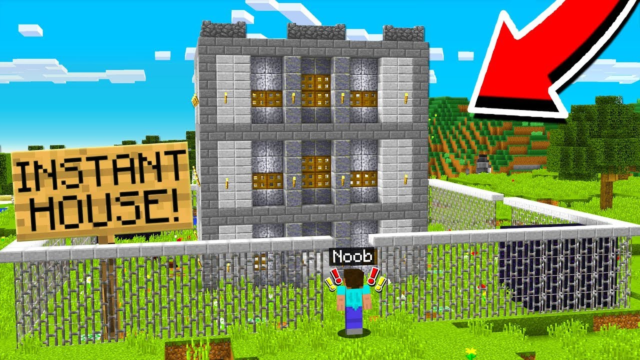 How To Build An Instant House In Minecraft Youtube