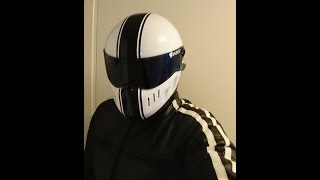d51c4274 Bandit XXR Classic White helmet with Dark Smoke Visor ...