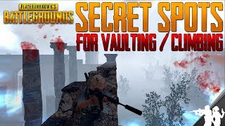 Top Secret Vaulting/Climbing Spots in PUBG | New Places You Can Get to by Vaulting in Battlegrounds