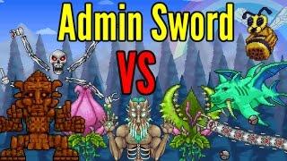 Terraria: Admin Sword VS All Bosses- Including Modded Bosses