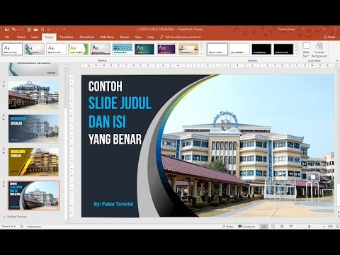 Contoh Slide Judul dan Isi Presentai PowerPoint yang Baik
