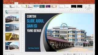 Contoh Slide Judul Dan Isi Presentasi Powerpoint Yang Baik