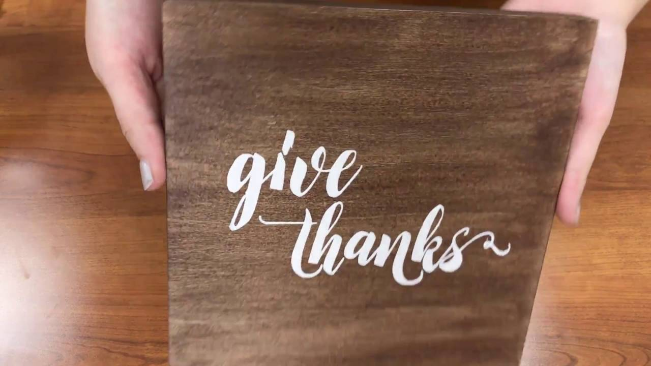 How to make wood vinyl signs