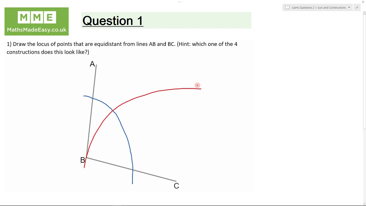Loci and Construction Revision | Maths Made Easy