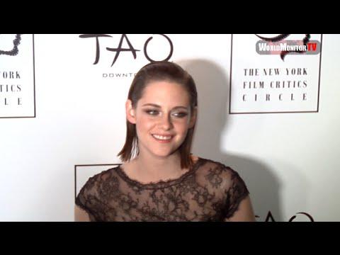Kristen Stewart arrives at New York Film Critics Circle Awards Red carpet