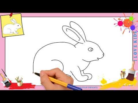 Dessin lapin 2 - Comment dessiner un lapin FACILEMENT etape par etape pour ENFANTS