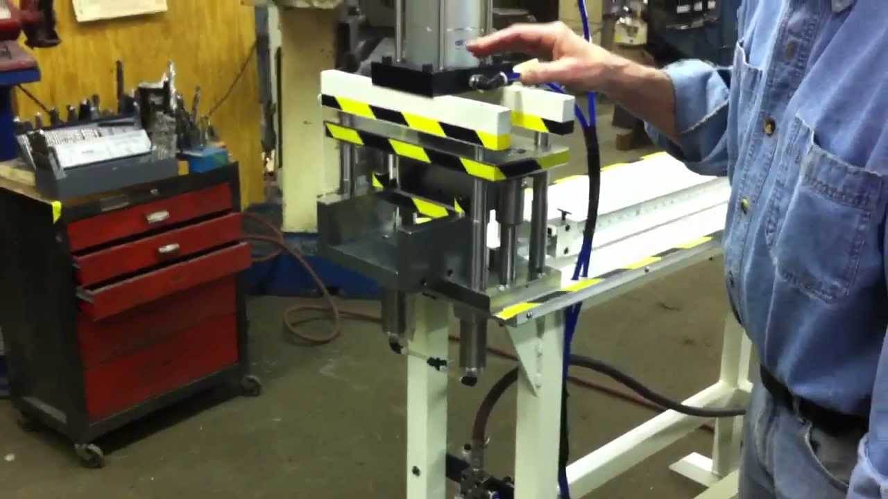 Pneumatic Guillotine Lineal Punch Video Demonstration From
