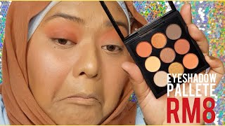 FOCALLURE 9 Colors Earth Tone Eyeshadow Palette | TUTORIAL + REVIEW