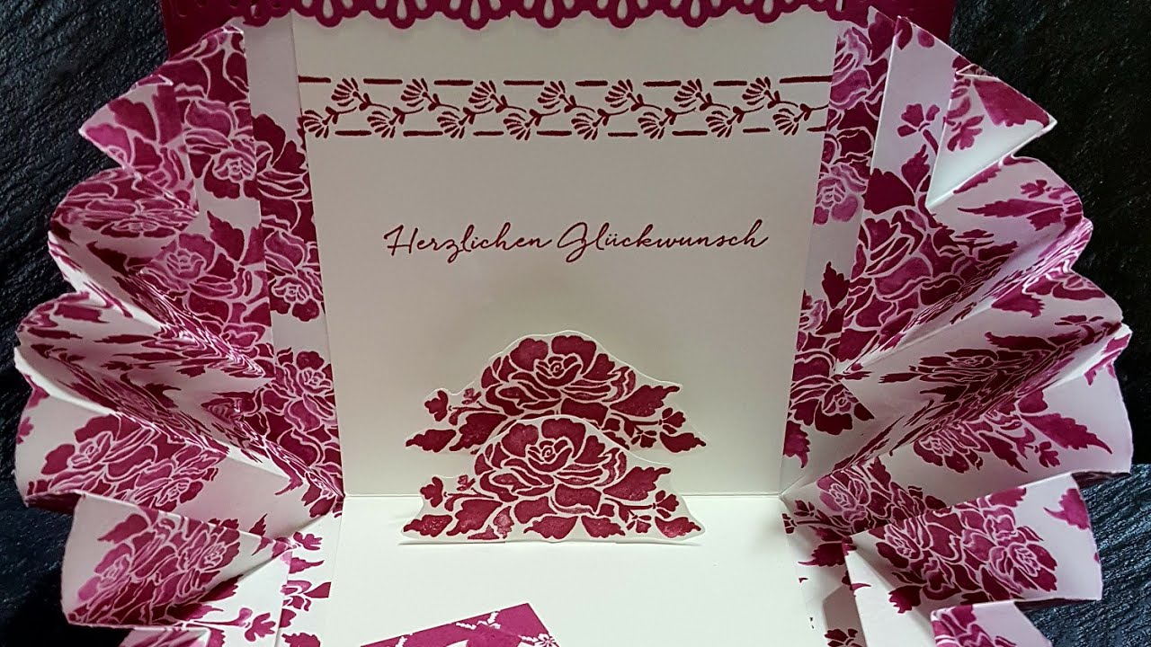 explosionskarte mit stampin 39 up florale eleganz youtube. Black Bedroom Furniture Sets. Home Design Ideas