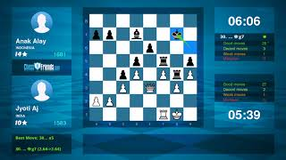 Chess Game Analysis: Jyoti Aj - Anak Alay : 0-1 (By ChessFriends.com)