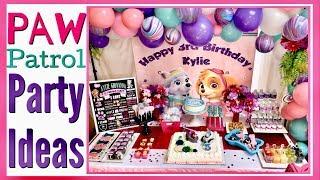 PAW PATROL Party Ideas / SKYE & EVEREST / Paw Patrol Birthday PARTY