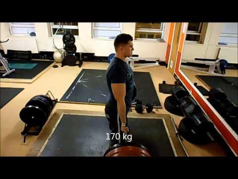 Andrius P B on Deadlift 180kg