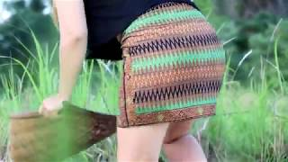 Wow!! Amazing Beautiful girl fishing Khmer Net Fishing how to catch fish by hand#33