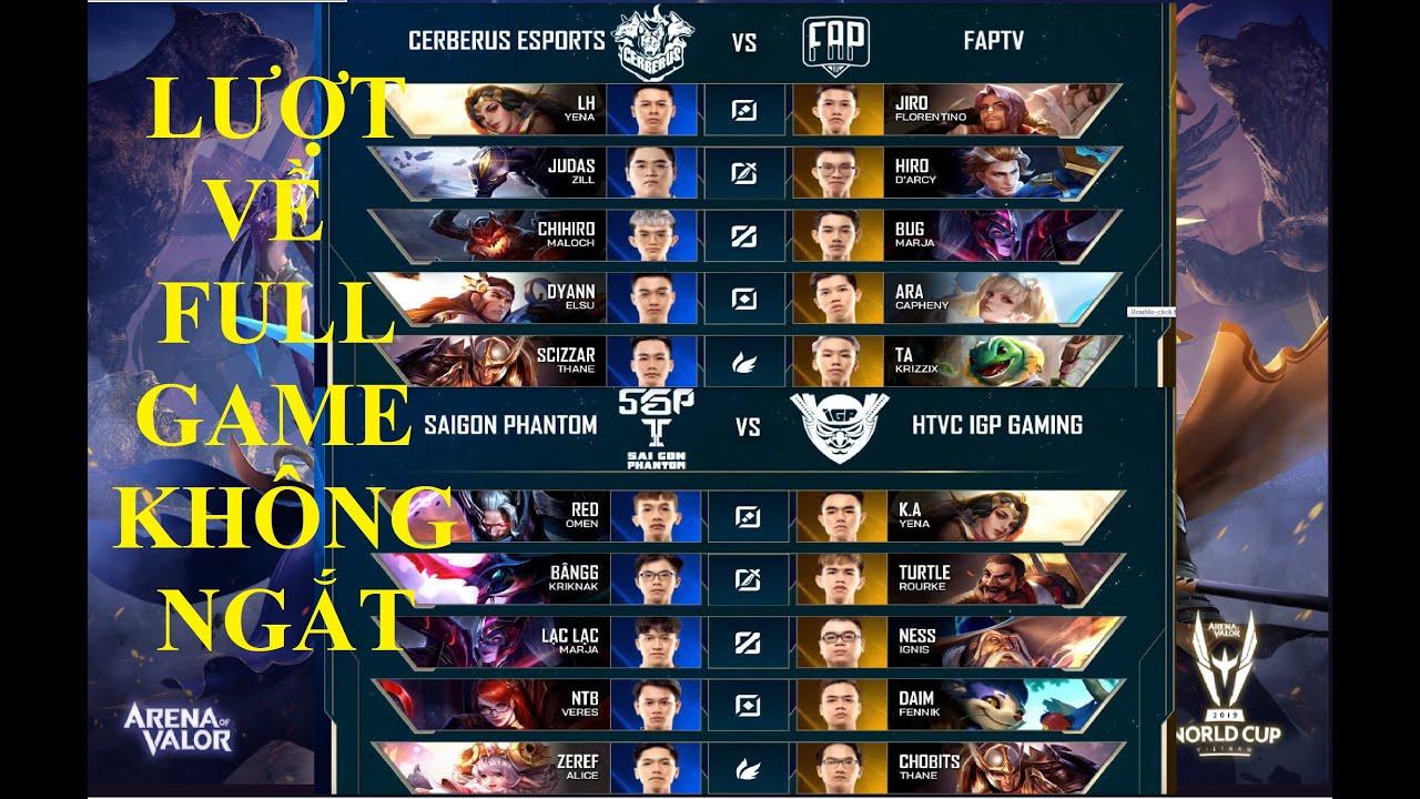 Cerberus Esports vs FAPtv | HTVC IGP Gaming vs Saigon Phantom | CES vs FTV | IGP vs SGP [ 18.04 ]