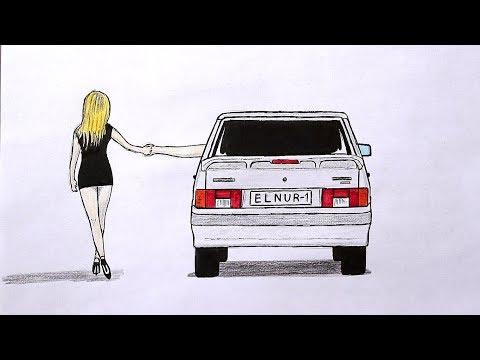 Как нарисовать машину Ваз 2114 поэтапно