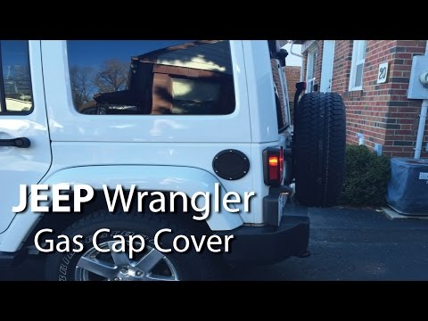Jeep Wrangler Gas Cap Cover Install Easy Way Diy Step By Step Youtube