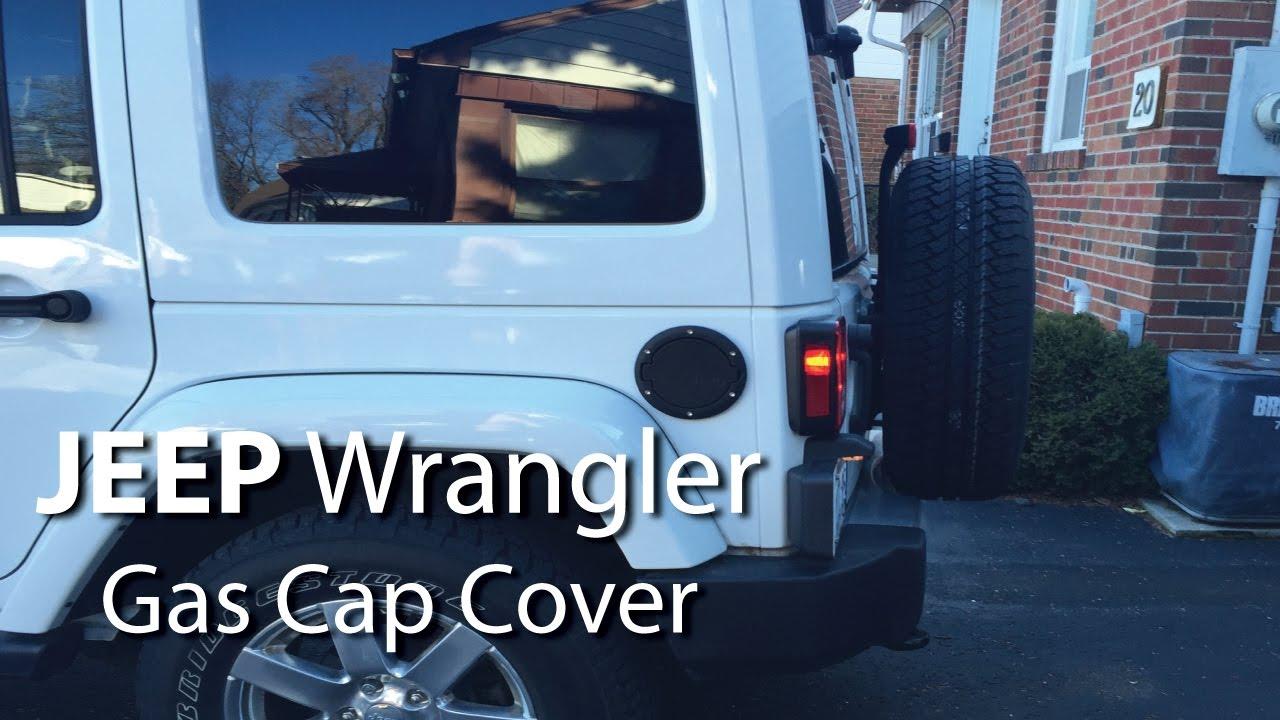 Black SUNPIE Fuel Filler Door Cover Gas Tank Cap for 2007-2017 Jeep Wrangler JK /& Unlimited 4-Door 2-Door