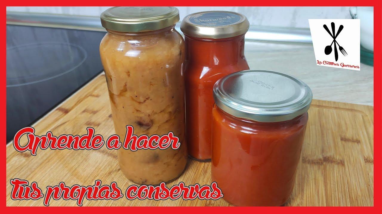 🙅♂️COMO HACER CONSERVAS de tomate frito, pimiento, calabacin...