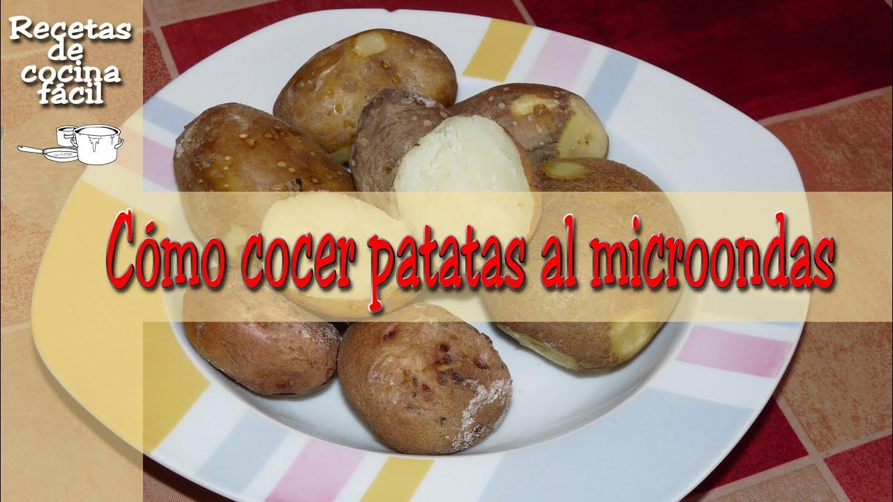 Cocina f cil c mo cocer papas patatas en el microondas - Tiempo de cocer patatas ...