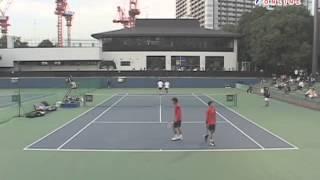 ニッケ全日本テニス選手権84th 1回戦 酒井・松永 VS 伊藤・權