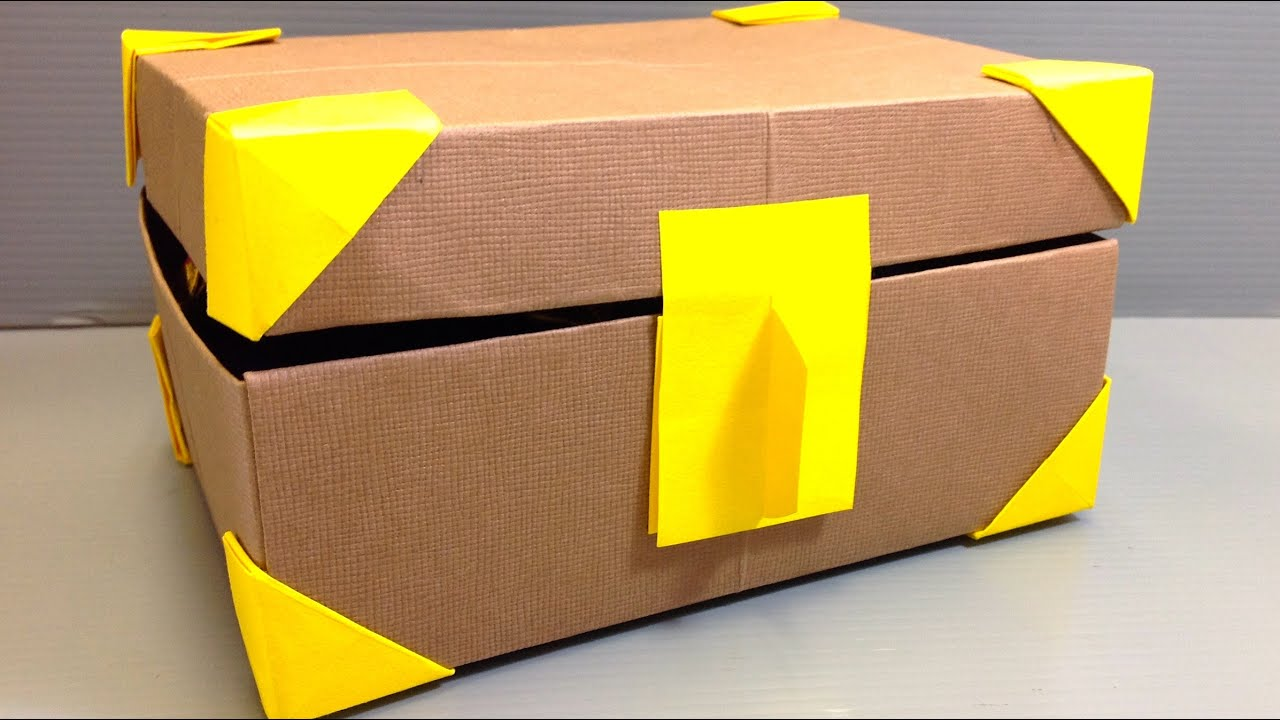 Origami Treasure Box full of Origami Coins - YouTube - photo#5