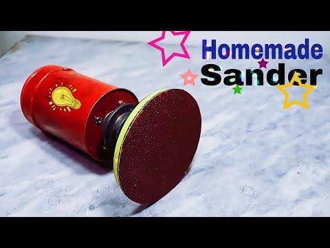 How To Make ORBITAL SANDER from Dc Motor