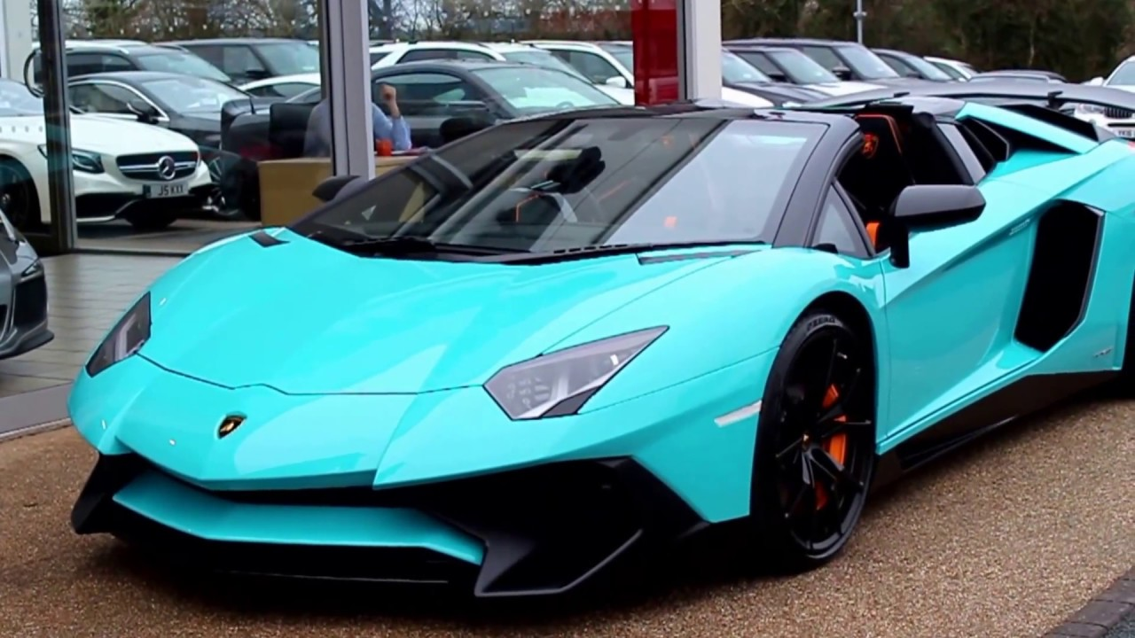 2016 Lamborghini Aventador Sv Roadster In Blu Glauco Youtube