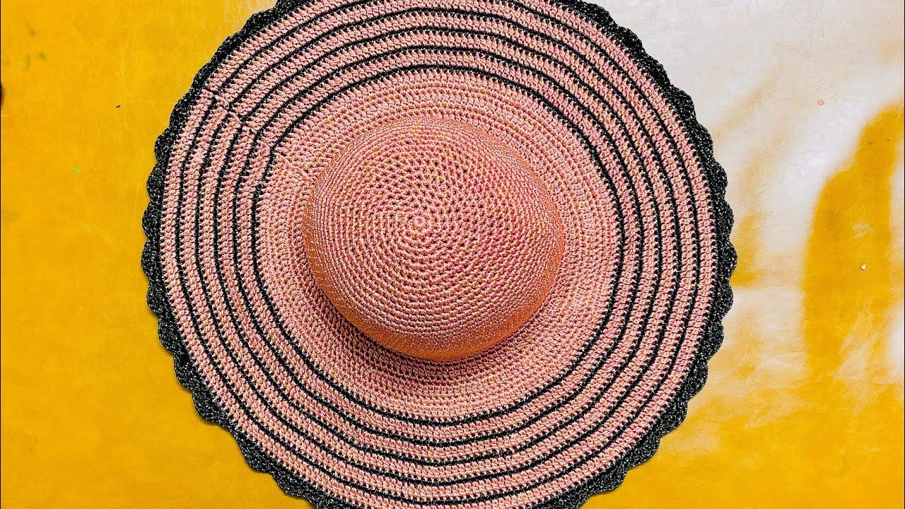 HƯỚNG DẪN CÁCH MÓC NÓN RỘNG VÀNH ĐƠN GIẢN VÀ ĐẸP _ Vân vũ_ Crochet hat