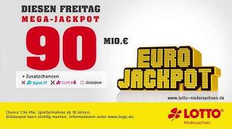 Eurojackpot: 90 Mio. € am Freitag, 23.08.2019