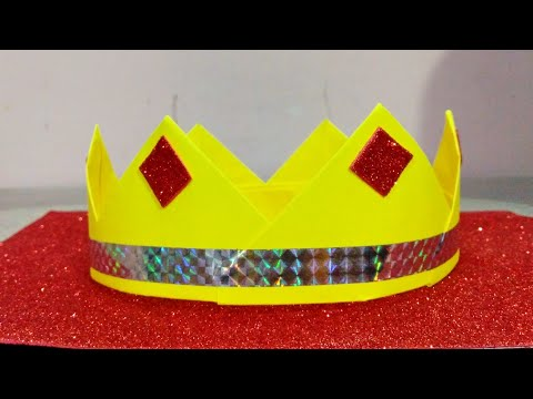 Easy and simple paper crown.