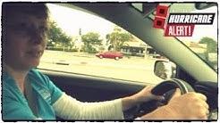 Driving on Highway 98 North Lakeland Before Hurricane Irma Arrives