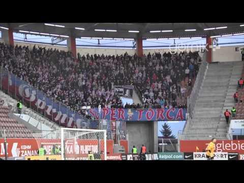 Kibice: Zagłębie Lubin 3:0 Górnik Zabrze (doping) 16.02.2014