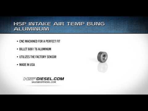 HSP ALUMINUM INTAKE AIR TEMP BUNG - ALUMINUM