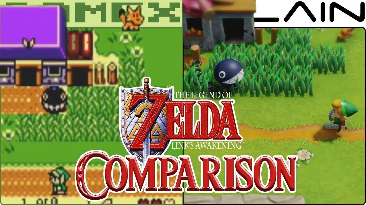 Zelda Link S Awakening Graphics Comparison Nintendo