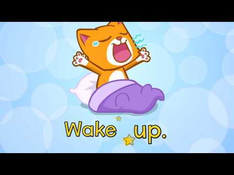 """Wake up!""  A song about daily routines and actions for primary and kindergarten."
