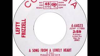 Lefty Frizzell - A Song From A Lonely Heart YouTube Videos