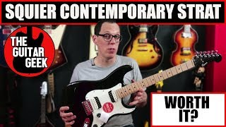 Squier Contemporary Strat  HH - Unboxing, playthough and unbiased review