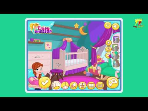 Games For Kids To Play    Frozen Games    Anna's Newborn House Makeover