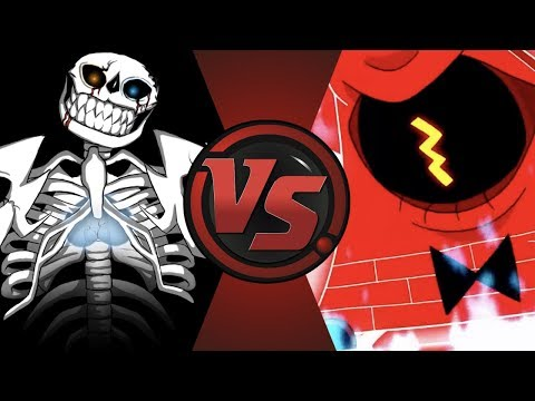 ULTRA SANS vs BILL CIPHER! (Undertale vs Gravity Falls) Cartoon Fight Club ULTIMATE QUESTION