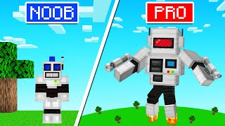 Playing As NOOB vs PRO ROBOT In Minecraft!