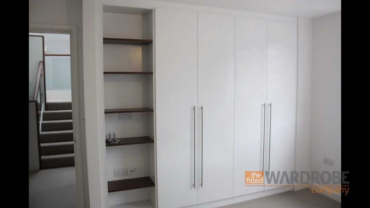 Bespoke Fitted Wardrobes High Gloss White With Open